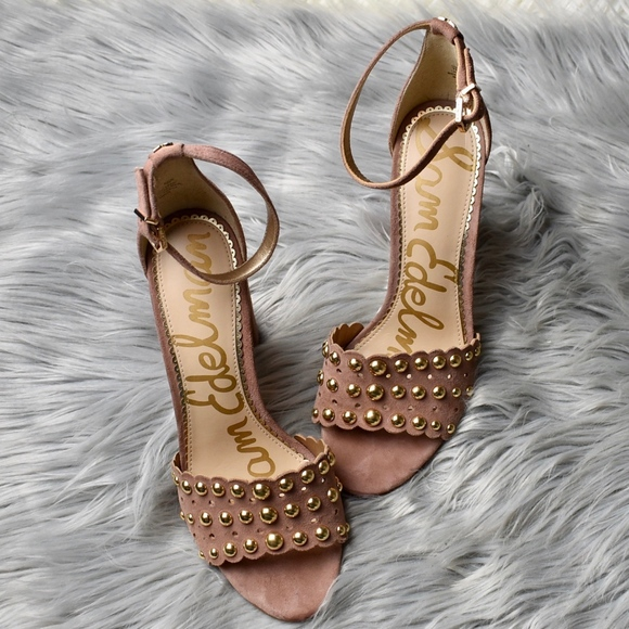 c5be24b51 (Sam Edelman) Yaria Studded Block Heel Sandals. M 5c47be52aaa5b826a3f8b616